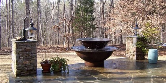 Tiered Syrup Kettle Fountain Millstones.com Covington, GA