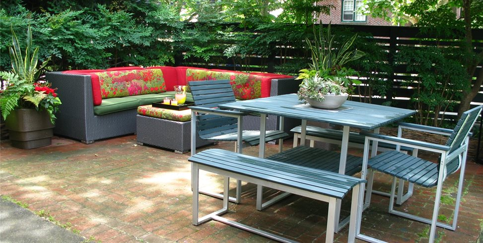 City Garden Patio Tropical Landscaping Livable Landscapes Wyndmoor, PA
