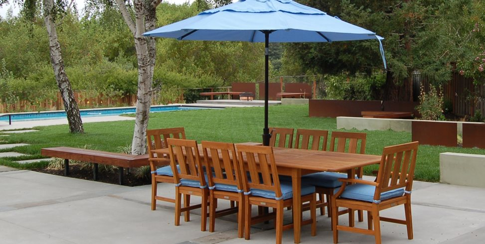 Outdoor Dining Furniture Patio Huettl Landscape Architecture Walnut Creek, CA