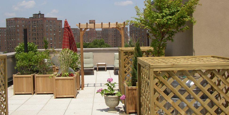 Rooftop Terrace Riccardi Landscape Design Inc Bronxville, NY
