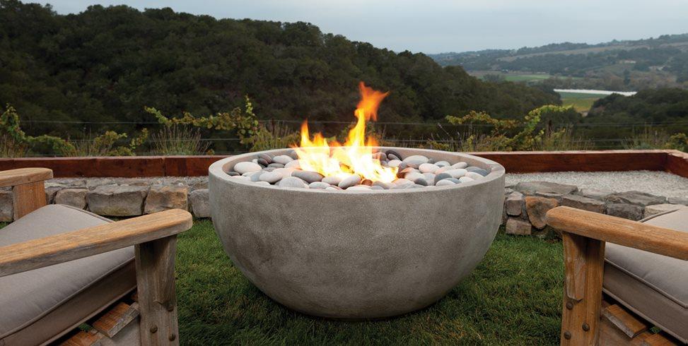 Artisan Fire Bowl, Infinite Eldorado Stone San Marcos, CA