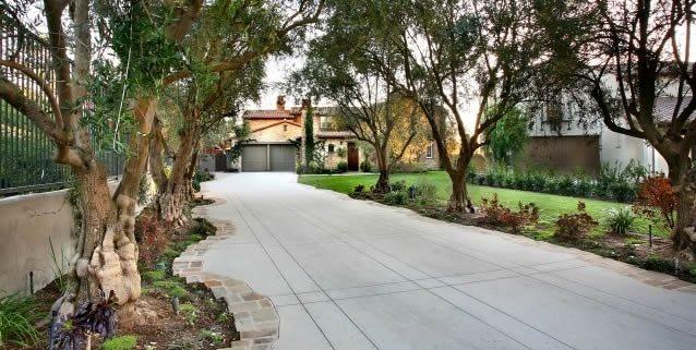 Concrete Driveway AMS Landscape Design Studios Newport Beach, CA
