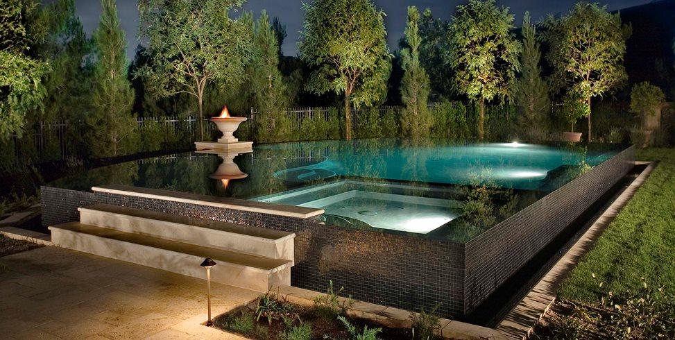 Raised Pool Alderete Pools Inc. San Clemente, CA