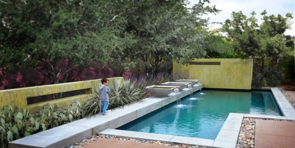 geometric pool design swimming pool bianchi design scottsdale az - Inground Pool Designs Ideas