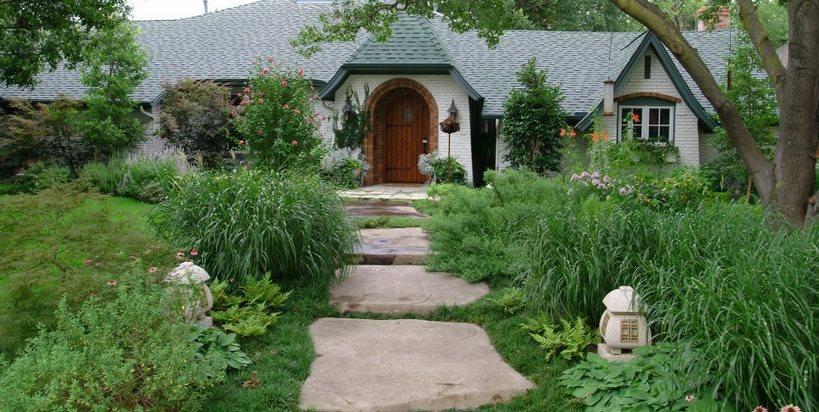 Front, Garden, Walkway, Concrete, Stone Concrete Walkway Bonick Landscaping Dallas, TX