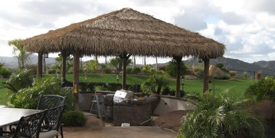 Thatch Shade Cover Driveway Palapa Kings Oceanside, CA