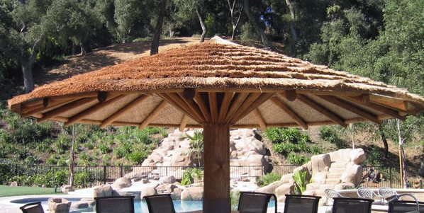 Large Thatch Umbrella Palapa Kings Oceanside, CA