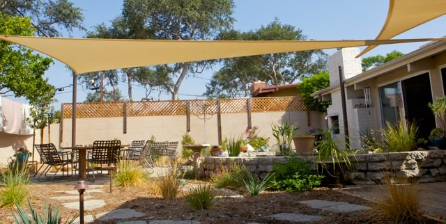 Shade Sails Walkway and Path Terry Design Inc Fullerton, CA