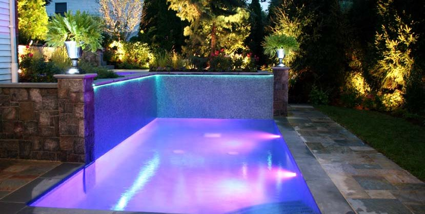 Swimming Pool Fiber Optics Cipriano Landscape Design Mahwah, NJ