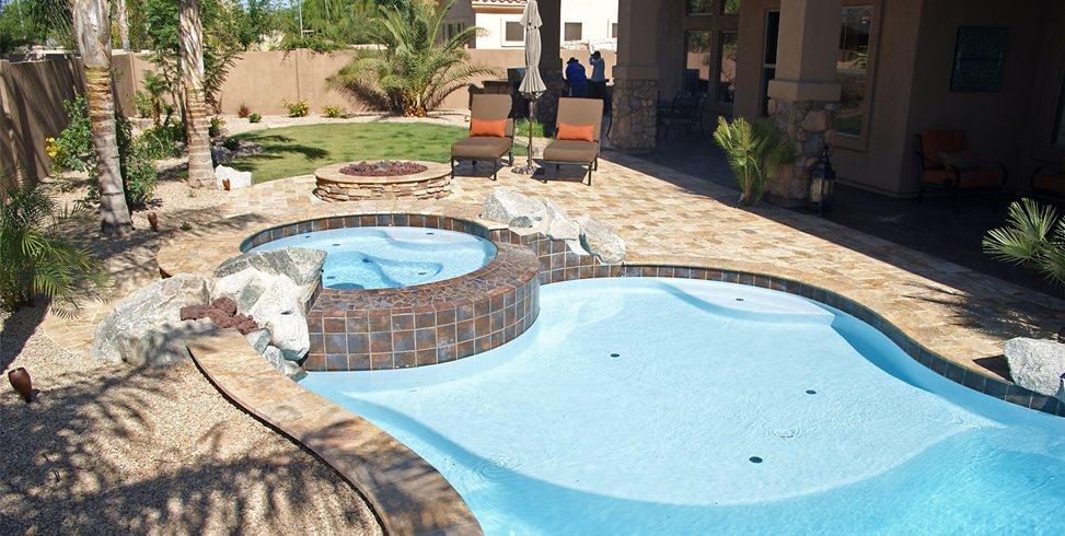 Backyard Landscaping Alexon Design Group Gilbert, AZ
