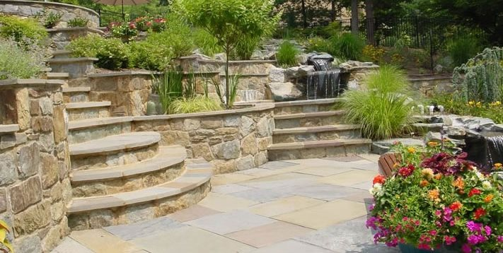 Hillside Landscaping, Backyard Terraces Backyard Landscaping Rowan Landscape & Pools Fulton, MD