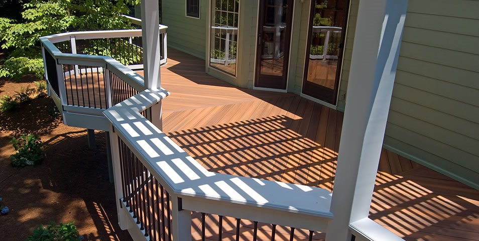 Backyard Deck Deck Design Peach Tree Decks & Porches Atlanta, GA