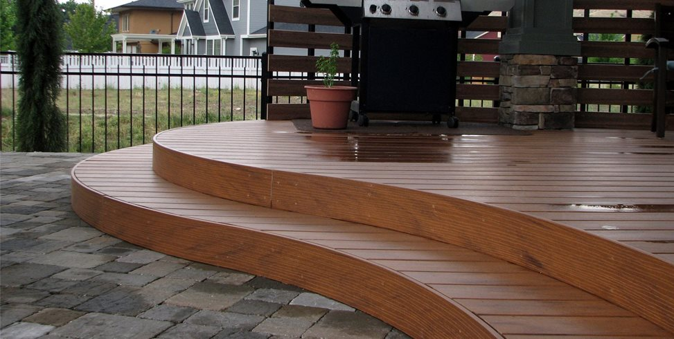 Curved Deck Deck Design Breckon Land Design Inc. Garden City, ID