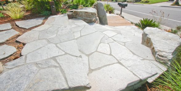 Flagstone, Stairs, Landing Driveway DC West Construction Inc. Carlsbad, CA