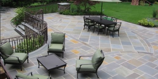 Full Color Bluestone Patio Driveway Cipriano Landscape Design Mahwah, NJ