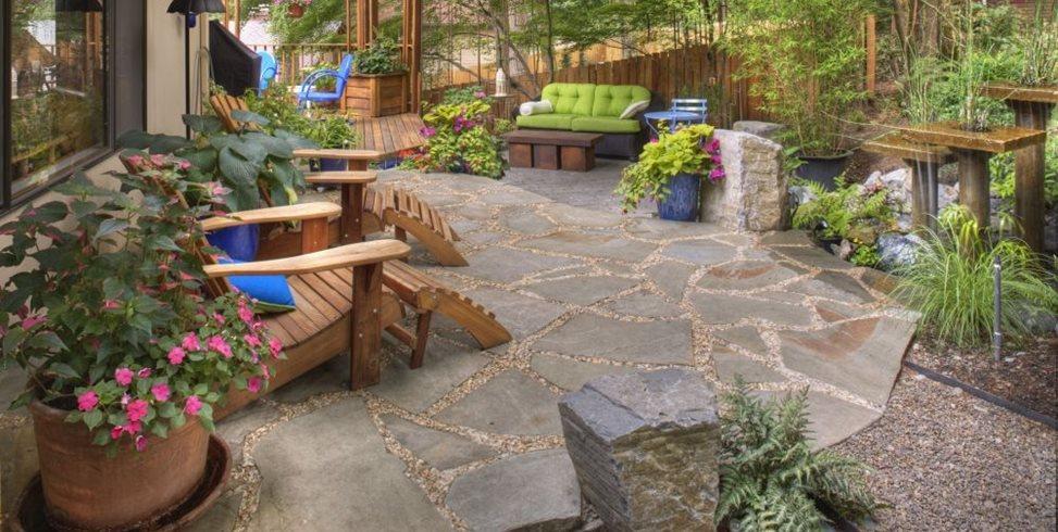 flagstone paving ideas - landscaping network - Driveway Patio Ideas