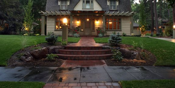 Front Yard Lights Front Yard Landscaping Copper Creek Landscaping, Inc. Mead, WA