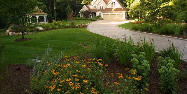 diy front yard landscaping ideas on a budget for small houses with rocks large lawn plantings group outdoor solutions