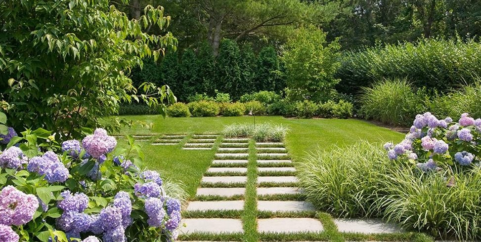 Pavers, Purple, Grass Garden Design Barry Block Landscape Design & Contracting East Moriches, NY
