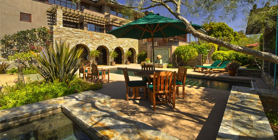 Tuscan, Pool, Fountain, Green, Arches, Furniture Outdoor Kitchen Landscaping Network Calimesa, CA