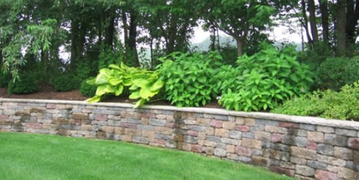 block retaining wall retaining and landscape wall cipriano landscape design mahwah nj - Retaining Wall Blocks Design