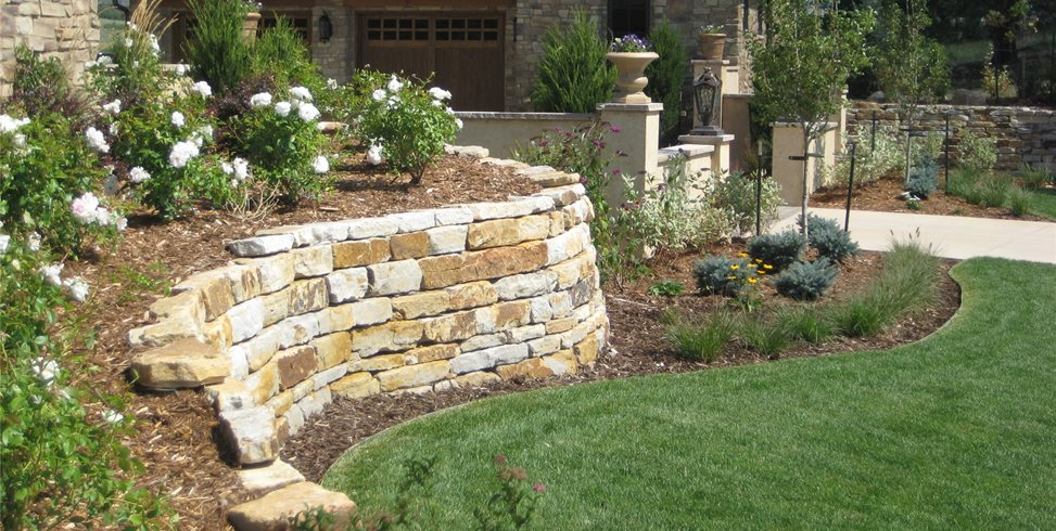silioam stone retaining walls retaining and landscape wall accent landscapes colorado springs co