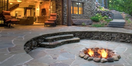 In Ground Fire Pit, Fire Ring Barkley Landscapes & Design Group Minneapolis, MN
