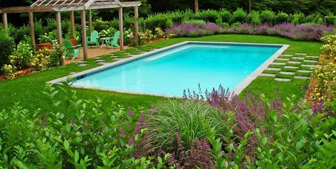 Pool Deck, Grass Andrew Grossman Landscape Design Seekonk, MA