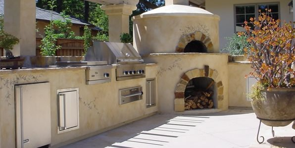 Outdoor Pizza Oven Swimming Pool Douglas Landscape Construction San Jose, CA
