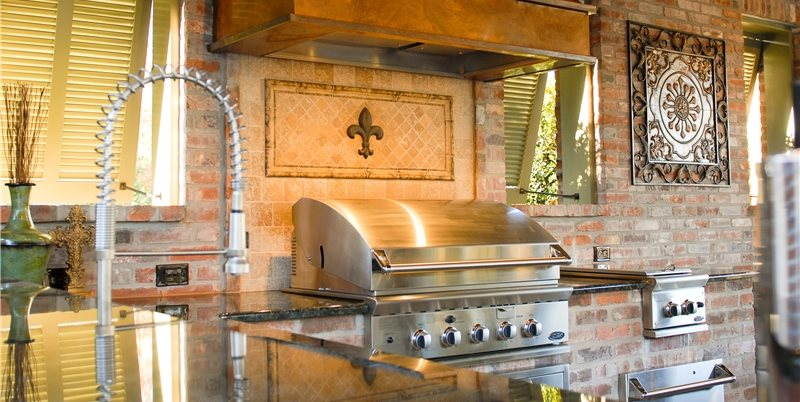 Stainless Steel Grill Swimming Pool Angelo's Lawn-Scape Of Louisiana Inc Baton Rouge, LA