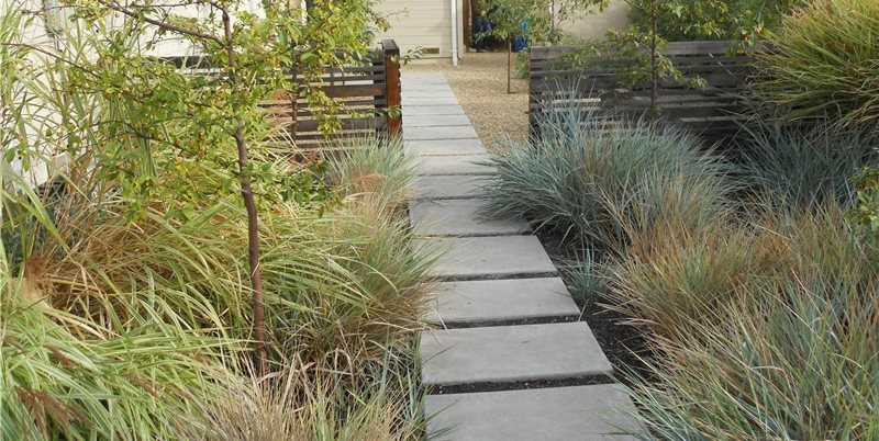 Paver Path Walkway and Path Huettl Landscape Architecture Walnut Creek, CA