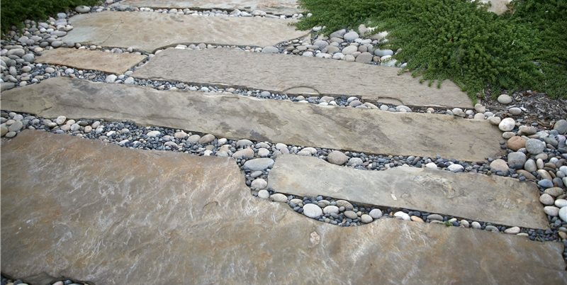 Stone Path Walkway and Path Grace Design Associates Santa Barbara, CA