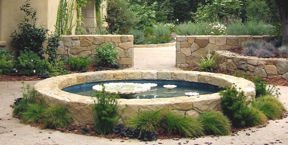 Garden pond design ideas landscaping network Above ground koi pond design ideas