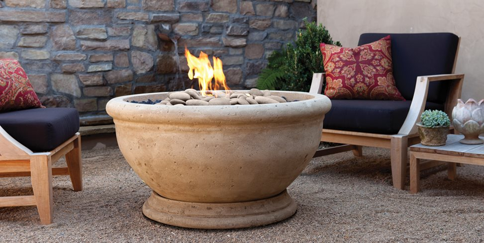 Artisan Fire Bowl, Marbella Eldorado Stone San Marcos, CA