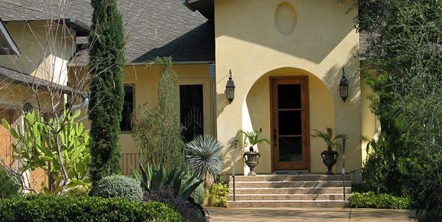 Mediterranean Front Yard David Wilson Garden Design Austin, TX