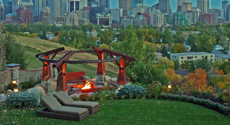 Calgary Skyline, Garden View DDLA Design Dallas, TX