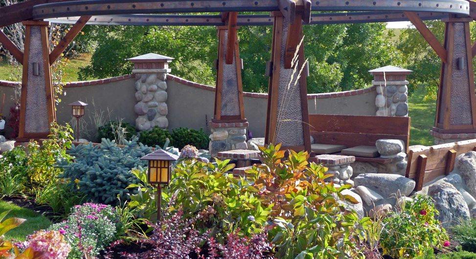Garden Shrubs, Perennials, Masonry Wall DDLA Design Dallas, TX